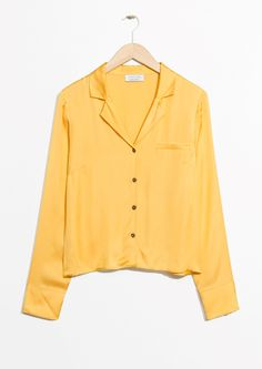 & Other Stories image 1 of Buttoned Blouse in Yellow