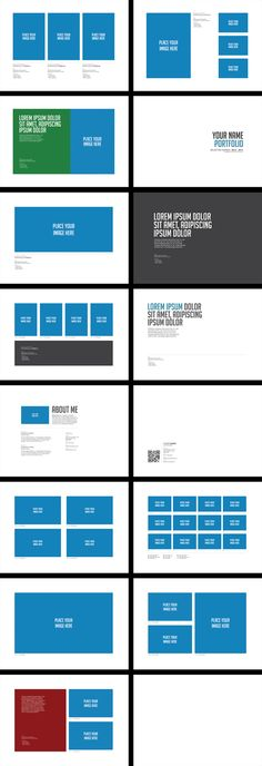 Portfolio Brochure Template Vol.01 by Easybrandz ., via Behance