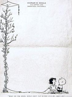 carte intestata di Charles Schulz - galleria di carte intestate di personaggi famosi