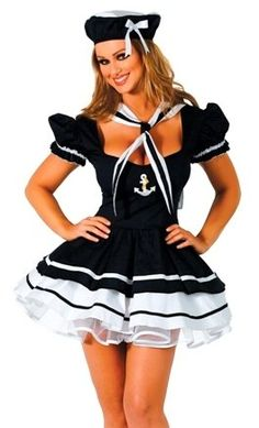 Sexy Adult Womens Halloween Costume Pin Up Navy « Clothing Adds Anytime