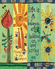 Life is a Balance Art Pole - Home Decoration Diy Garden Projects, Art Projects, Garden Ideas, Round Robin, Peace Pole, Balance Art, Garden Poles, Pole Art, Outdoor Art