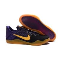 25632000cc05 Nike Kobe 11 XI low purple yellow black shoes