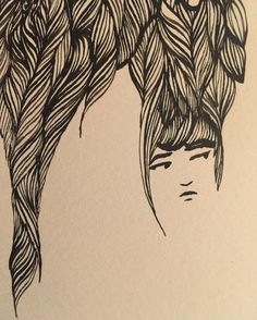 Ashya Lane-Spollen  A closer look at the latest face: only the second to have her eyes open. ✍ (WIP detail)  #art #drawing #illustration #artist #illustrator #draw #artlife #instaart #wip #workinprogress #ink #quill #hair #women #woman #girl #wild #together #sleep #dream #awake #sea #water #ocean #irish #french #ireland #france