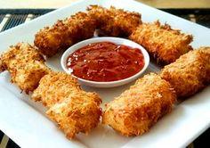 Crispy Coconut Battered Imitation Crab Appetizer!  Get recipe on CookingHawaiianStyle.com