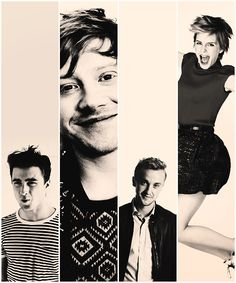Dan, Rupert, Tom, Emma