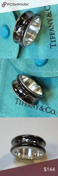 e7dbae7f5 Tiffany & Co. 1837 Concave Titanium Band Ring 6.25 In very good condition  Authentic Tiffany