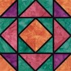 Stained Glass Canadian Gardens Quilt Block Pattern