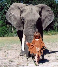 Increíbles imágenes de la niña que pasó diez años de su vida en la selva africana - Vida Lúcida