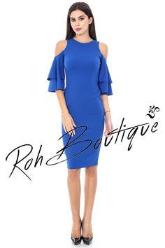 Rochie midi - DR2661 Cold Shoulder Dress, Casual, Dresses, Fashion, Vestidos, Moda, Fashion Styles, Dress, Fashion Illustrations
