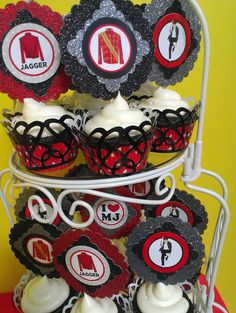 Michael Jackson Cupcakes, michael jackson party