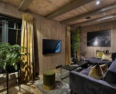 28stue Modern Cabin Interior, Home Technology, Cabin Interiors, House In The Woods, Park City, Open House, Wood Homes, Rustic Homes, Home Decor