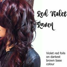 Red violet raven