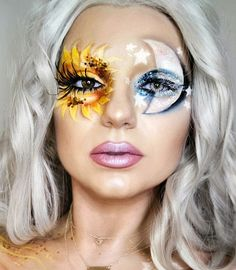 Halloween – Make-up Schminke und Co. Halloween – Make-up Schminke und Co. Beautiful Halloween Makeup, Amazing Makeup, Stunning Makeup, Maquillaje Halloween, Halloween Makeup Looks, Halloween Makeup Glitter, Glitter Makeup, Halloween Makeup Tutorials, Halloween Eyeshadow
