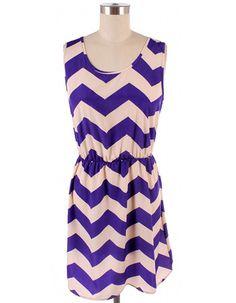 Perfectly Purple Chevron Dress