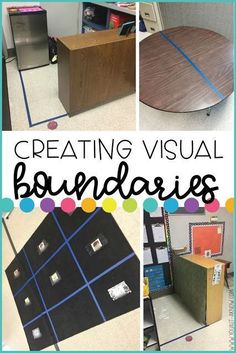 Creating visual boundaries in the classroom helps students understand where they are supposed to be in the classroom space. Adding some additional supports will let students know where they are NOT supposed to be as well.