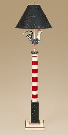 Rooster Floor Lamp. Americana!      ♪ ♪ ... #inspiration #diy GB   http://www.pinterest.com/gigibrazil/boards/