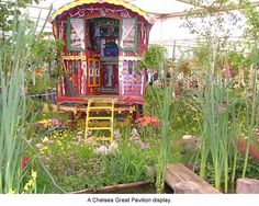 Anna Sadler bring your gypsy trailer on down, he, he, just found this pin and Wendy A. pinboard Bohemian Living, Look out you can get lost for hours on this one, love it, i'm thinking i'll be pinning most evrything there, lol, ENJOY  Caravan Garden