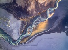 The Art of Nature - Nature is in my opinion the best artist in the world. It's diversity is marvelous. I captured this image from about 500m above ground with my DJI Phantom 3 in Iceland. The wind was very strong that day but I gave it a try because I really wanted to see this river structures from above. It was hard to fly but my drone worked perfectly and the results are unbelievable.  What you see in this image is basically beautiful colored sand and milky water from the glacier formed…