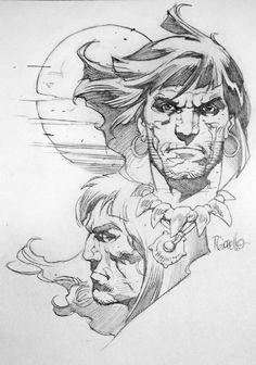Conan Study by Giorello Comic Art