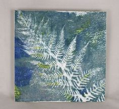 Mounting a fabric Gelli print by Lynda @ Bloom Bake and Create Finished project