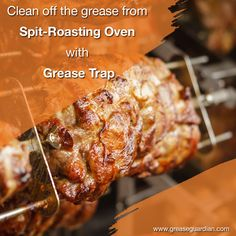 We offer a highly sophisticated yet easy-to-maintain tailor-made for spit-roasting ovens. Visit the link to know how Grease Guardian can help you maintain healthy working of grease trap for your kitchen Rotisserie Oven, Kitchen Oven, Oven Chicken, Commercial Kitchen, Ovens, Grease, Pork, Cleaning, Healthy