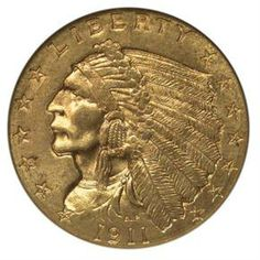 Indian Head - 1913 $2.5 MS