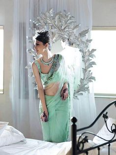 love this mint sari  fullcircleeventi.com