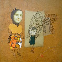 Broderie, illustration et collage par Cecile Perra