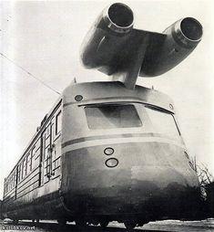 more information about soviet turbo jet train 5 Russian Jet, Trains, Flying Vehicles, Train Art, Good Old Times, Retro Futurism, Soviet Union, Dieselpunk, Locomotive