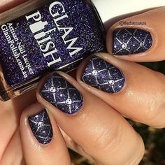 This is Nancy Downs from the Coven collection by @glampolish_ , stamped and matted!!!! Love how this turned out. This entire collection is named after witchly characters (this one is from the movie The Craft!) and is available now at www.glampolish.com.au/products  #prsample