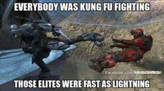 "Behold, the legendary ""Sparta(n)"" kick! Video Game Memes, Video Games Funny, Funny Games, Funny Gaming Memes, Gamer Humor, Halo Funny, Halo Mega Bloks, Halo Series, Halo Game"