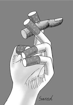 cigarette fingers drawing - Yahoo Search Results Yahoo Image Search Results