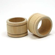 Mylittlewoodshop2 Package of 6 - Napkin Ring Colonial - 1-3/4 unfinished wood (WW-NR0150) Unique Wood Shapes