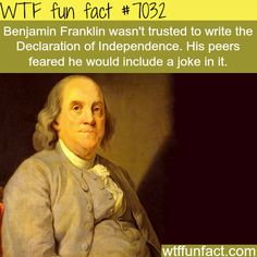 WTF Facts : funny, interesting & weird facts — Benjamin Franklin - WTF fun facts