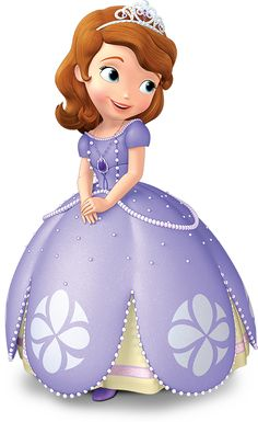 Sofia the first shows off her signature dress