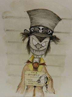 Jack Werewolf Original Art Zombie Art Cartoon Art by by StagiWorks, $75.00