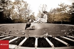 Idea for Christmas Card Photo Pose - Jumping on the trampoline - yes please! Capturing the family doing anything they love always makes for a fun photo to share.