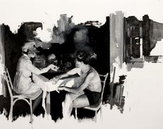 """Julien Spianti, """"Sin of trust"""" (2012, oil on paper). Private collection, Switzerland"""