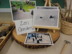 Zen garden invitation... I like the use of pictures as examples. I have seen this as a side by side invitation