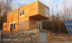 Casa cabaña prefabricada con estructura de contenedores