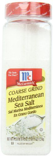 McCormick Coarse Ground Mediterranean Sea Salt, 43-Ounce - http://spicegrinder.biz/mccormick-coarse-ground-mediterranean-sea-salt-43-ounce/