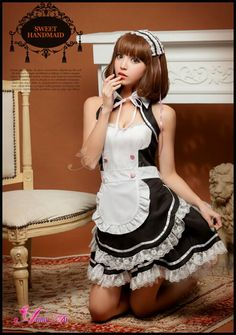 Maid Cosplay, Asian Cosplay, Cute Cosplay, Cosplay Girls, Cosplay Costumes, Girly Girl Outfits, Pretty Outfits, Maid Outfit, School Girl Outfit