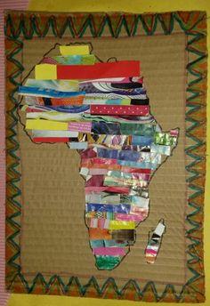 Africa Outline, Picnic Blanket, Outdoor Blanket, Picnic Quilt