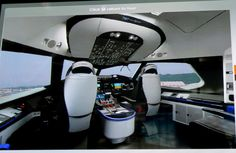 Boeing 787 ( Dream Liner ) Ultramoderna cabina del avion mas nuevo del fabricante estadounidense. Mas pareciera ser una maquina venida del futuro que una cabina actual de mando.