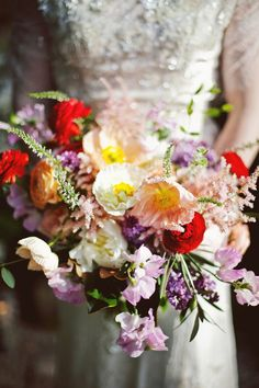 spring wedding bouquet - photo by Feather Love Events