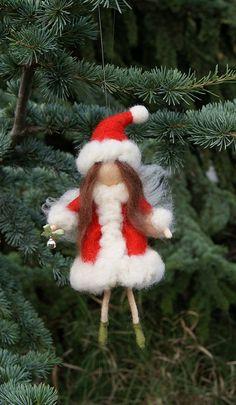 Christmas Wool Fairy Xmas fairyneedle felted fairy di DemannaArt