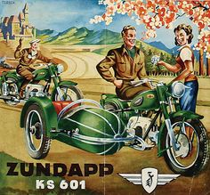 Zuendapp KS 601 motorcycle brochure by Fine Cars