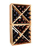 """Pine 48 Bottle Wine Cube Collection. Perfect for nooks, crannies, and converting that """"underneath"""" space into wine storage. $119"""