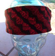 BANDANA HANDMADE Red Cotton Men Womens Premium by silcoon52, $8.00