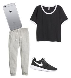 """""""Untitled #11"""" by tamas-erdos on Polyvore featuring H&M, NIKE, men's fashion and menswear"""